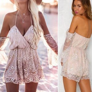 Hello Molly Shimmer Please Playsuit Romper XS